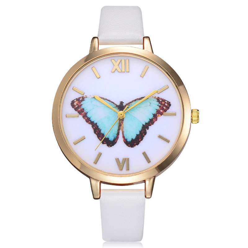 Reloj Mujer Fashion Creative Butterfly Relojes Noble Rome Scale - Relojes para mujeres