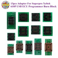 13pcs Adapter For Superpro Xeltek 610P USB ECU Programmer Burn Block