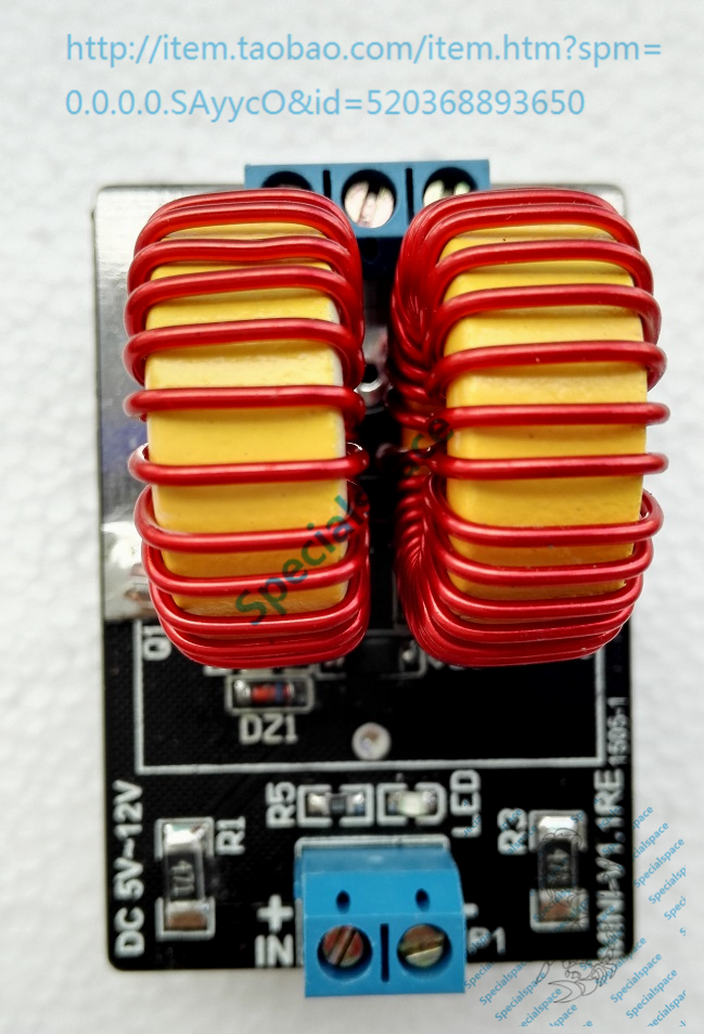 A mini version of ZVS without induction heating tap finished Jacob Tesla ladder drive zvs high frequency induction heating 1800w high frequency machine without tap zvs
