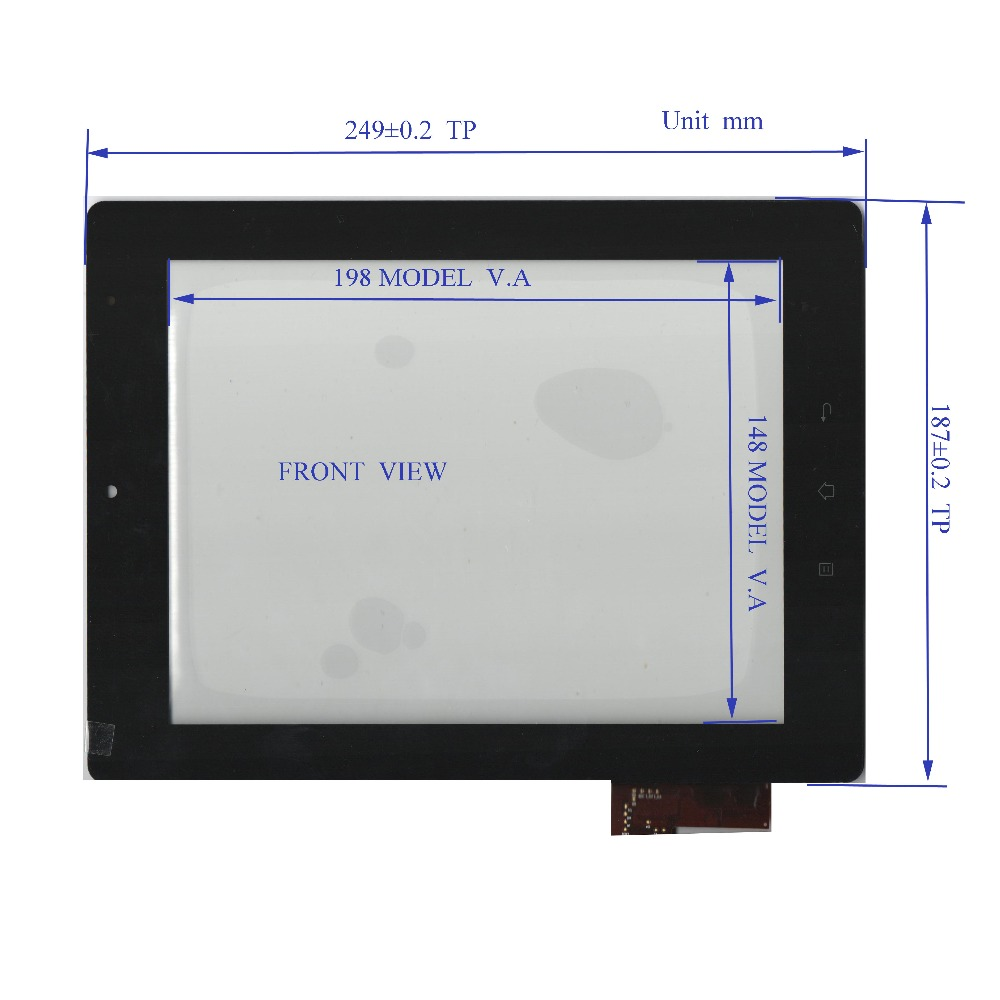 ZhiYuSun A1102097001-v04 new  Touch Screen glass Capacitive touch screen 10.1inch  249*187  widh 187mm length 249mm new 7 inch tablet pc mglctp 701271 authentic touch screen handwriting screen multi point capacitive screen external screen