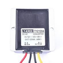Car DC 12V 4A Voltage Stabilizer Surge Protector Power Supply Regulator for Auto Truck Vehicle Boat Solar System etc.