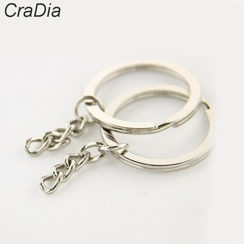 DHLFree 1000pcs Key Ring Key Chain Rhodium Plated 60mm long Round Split keychain 2 0X28 1