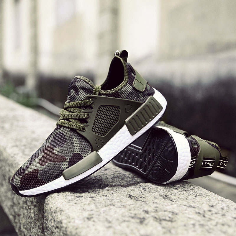 Offre spéciale Chaussures baskets homme 2018 Camouflage chaussures décontractées mode chaussures pour hommes Designer Sneaker Adulte Mâle De Tennis grand 39-48