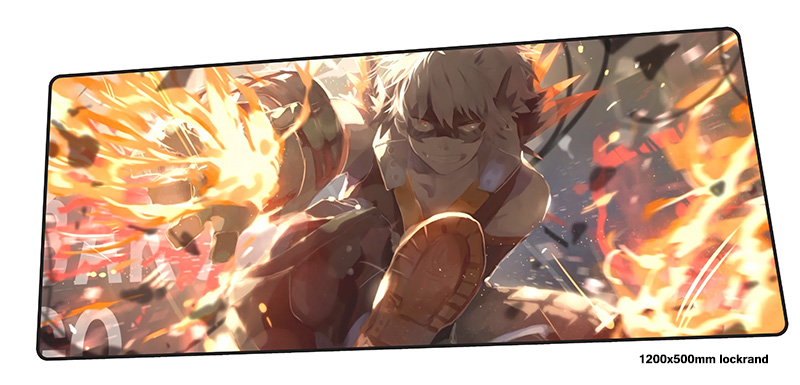 лучшая цена My Hero Academia mouse pad 1200x500mm mousepads locked edge gaming mousepad gamer New arrival large mouse pads keyboard pc pad