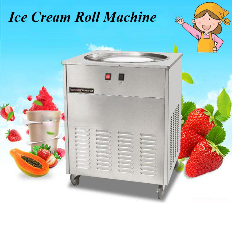 48cm Single Round Pan Fried Ice Cream Roll Machine,Commercial Fried Milk Yogurt Machine, Ice Cream Maker NB100S shipule fried ice cream machine roll machine ice cream maker