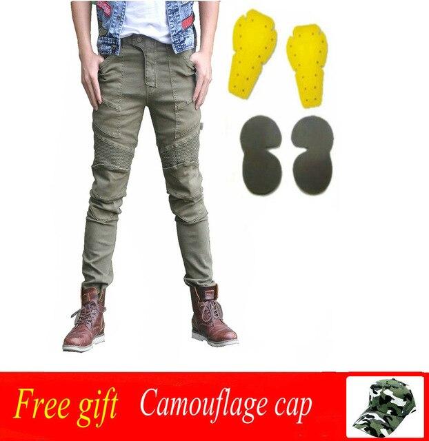 Новые мотоциклетные штаны Мотокросс брюки Для мужчин джинсы мото защитное Шестерни для верховой езды Touring мотоцикл брюки Pantalon мото брюки дж