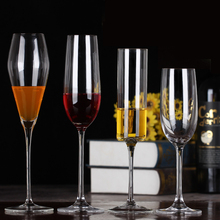 New Crystal glass Cup Champagne Beer Wine Lead-free goblet Glasses Bar Party Red Glass Flutes Transparent