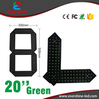 20 Green Color Outdoor Waterproof Led Gas Price Digita Numbers Module LED Digital Display 7 Segment