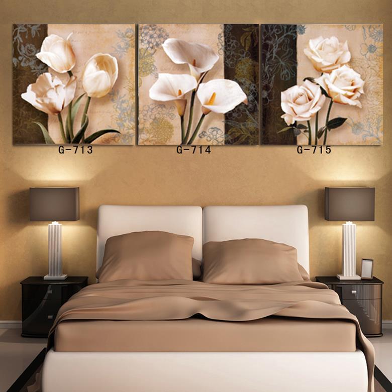 top de la moda estilo de diseo de las flores de pared cuadros para la