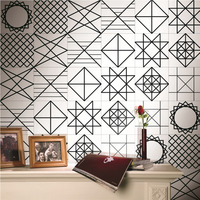 0 2x5m Multi Pattern Retro Cabinets Tile Stickers PVC Bathroom Kitchen Waterproof Wall Sticker Home Decor