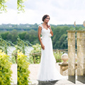 2017 Simple Cap Sleeves Sweetheart Neck Backless Wedding Dress Lace Beach Boho Bride Dress 2017 Chiffon vestidos de noiva