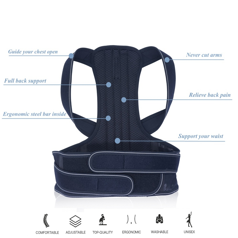 Tlinna Adjustable Posture Corrector Belt Made of Breathable Neoprene with 2 Aluminum Support Plate to Maximize Flexibility Helps to Shape Body Posture 3