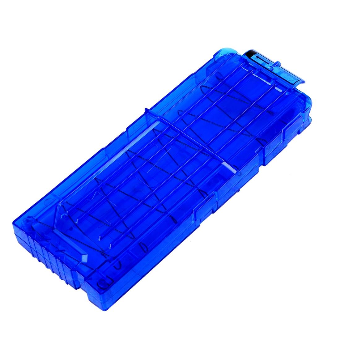 Мягкая Пуля зажимы для Nerf n-удар Элитной серии 12 пули патронов картридж Дартс для Нерфа пуля клипы- прозрачный синий
