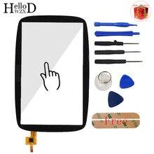 Painel de vidro da tela de toque gps, para tomtom go 600 go 6000 tela sensível ao toque digitador ferramentas de peça do sensor da lente frontal toalhetes adesivos