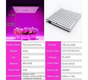 Image 3 - DCOO פיטו מנורת 45W LED צמחים לגדול אורות 265V ספקטרום מלא עבור מקורה חממה צמחי הידרופוניקה פרח פנל לגדול אורות
