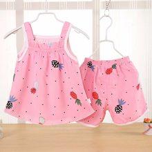 3ccd32a42 Siyuebebe del verano del Bebé Ropa conjuntos 2 piezas algodón niños niña  vestidos recién nacido bebé