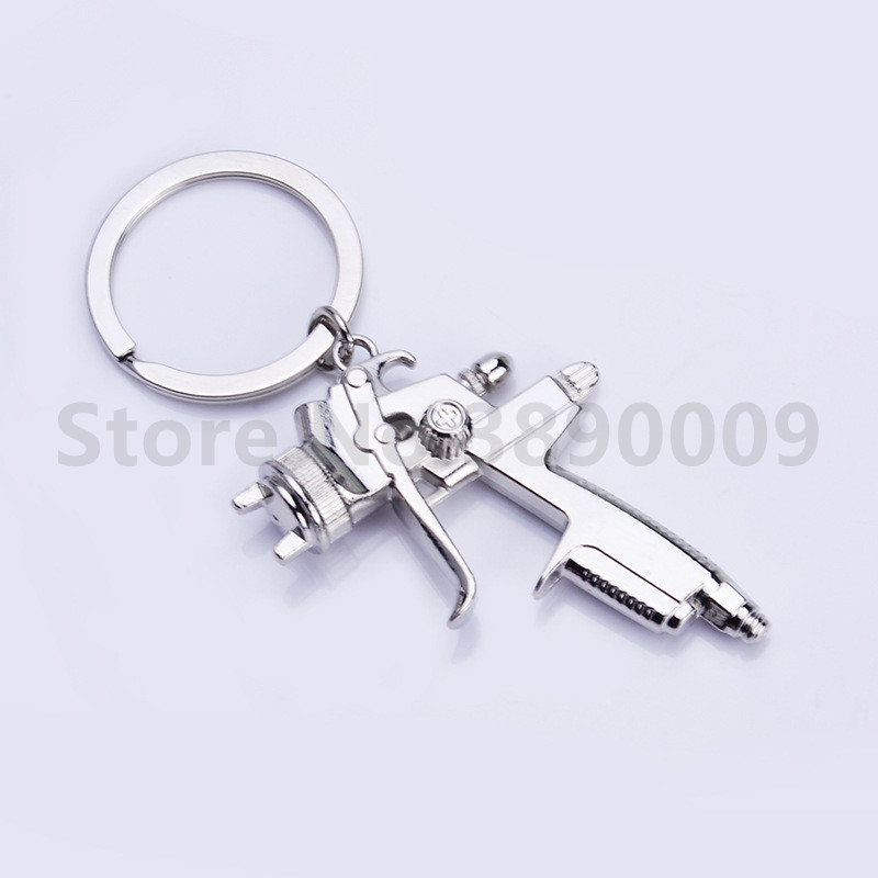 50 Pcs High quality creative new water gun keychain men's and women's zinc alloy key ring gun-shaped metal tool key pendant