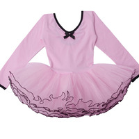 Retail New Style Free Shipping Girls Dance Dress Fairy Long Leotard Ballet Tutu Skate Party Show