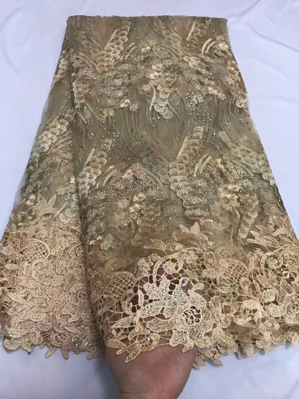 african fabric 2018 wine tulle lace fabric with stones tissus guipure tulle  perle dentelle high quality 5yard lotZQF 81-in Lace from Home   Garden on  ... ce6a3a337fed
