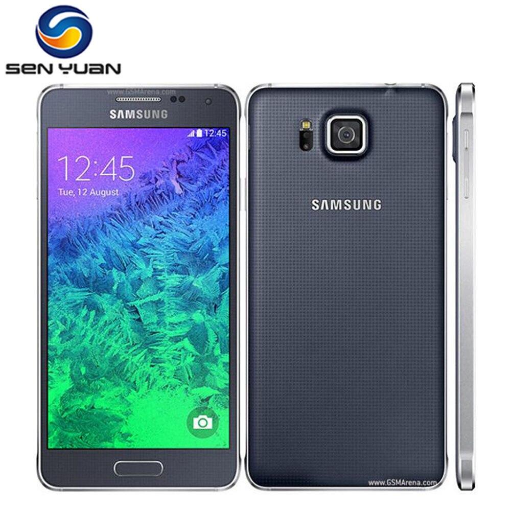 Цена за Оригинальный Разблокирована Samsung Galaxy Alpha G850F G850A G850 Мобильный Телефон Ouad Основные 2 ГБ Ram 32 ГБ ROM 12.0MP 4.7 Дюймов Сенсорный Экран