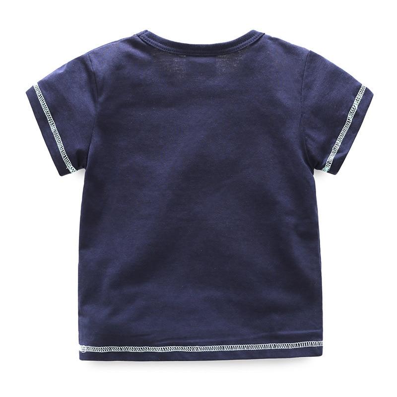 Kreskówka chłopców T Shirt 2018 Nowa letnia koszulka z krótkim - Ubrania dziecięce - Zdjęcie 2