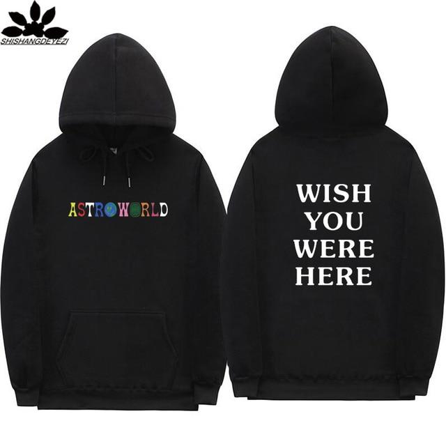 26803209378c Astroworld hoodies Black khaki pink orange white grey Travis Scott  Astroworld WISH YOU WERE HERE Man woman hoodie and Sweatshirt