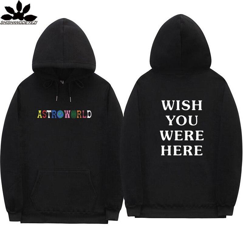Astroworld hoodies Schwarz khaki rosa orange weiß grau Travis Scott Astroworld WUNSCH WAREN SIE HIER Mann frau hoodie und Sweatshirt