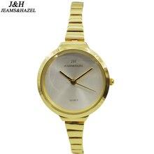 Nueva Moda delgado de la Alta Calidad Relojes de Marca De Lujo de Las señoras Vestido de Cuarzo reloj de Pulsera de Acero fino Inoxidable reloj mujer JH