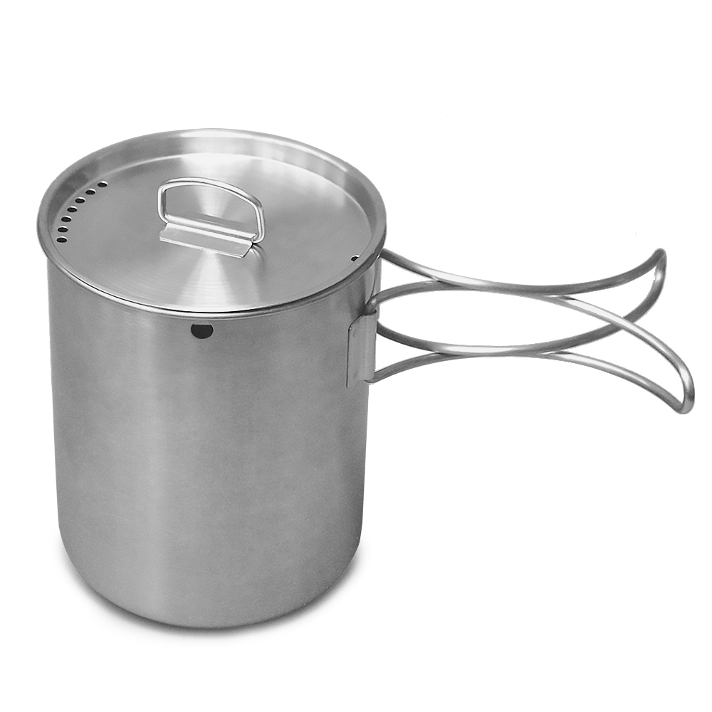 Image 4 - Portable Outdoor Stainless Steel Camping Mug Water Cup with Foldable Handle Outdoor Tableware Camping Hiking-in Outdoor Tablewares from Sports & Entertainment