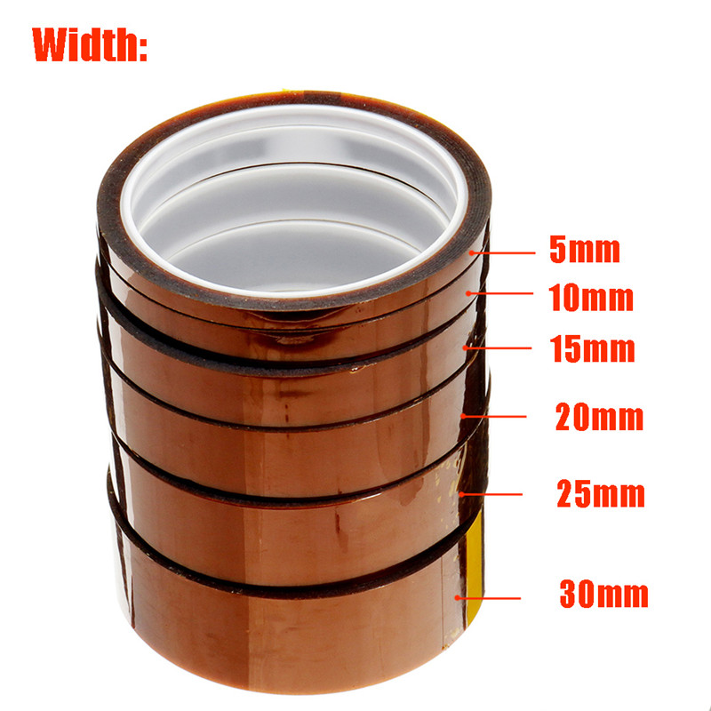 Length 30M Width 5/10/15/20/25/30mm Film Heat Resistant Polyimide Tape High Temperature Adhesive Insulation Electric Tape