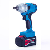 68FV 6000mah cordless electric impact wrench lithium battery spanner multi function rechargeable electric tools 2pcs battery