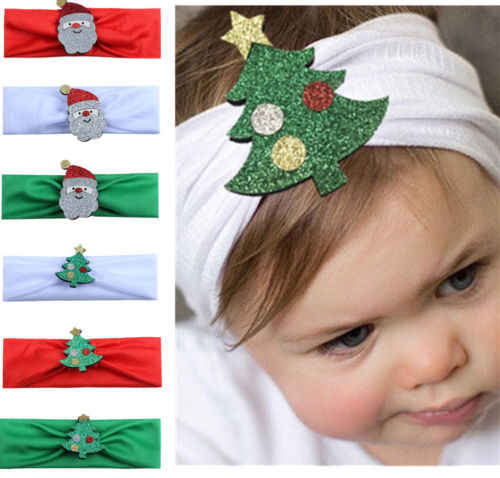 Christmas Headband For Baby Girl.2017 Toddler Newborn Unisex Baby Girl Boy Huge Christmas Headband Hair Band Hair Accessories Xmas Gift
