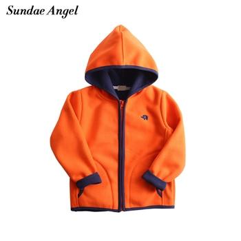 Sundae Angel Children Jacket Girls Boy Hooded Embroidery Girl Outwear Coats Autumn Polar fleece Kids Coats Jackets Girl Clothes polar fleece