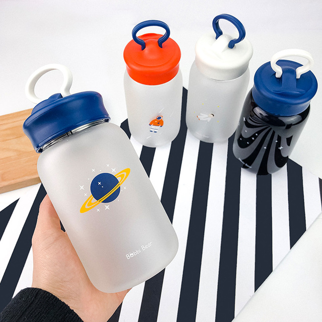 Creative Mobile Phone Holder Glass Water Bottle 2