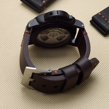 MERJUST 22mm 24mm 26mm Black Brown Genuine Leather Watchband Wristband For PAM Panerai Big Pilot Watch Garmin Fenix3 Strap