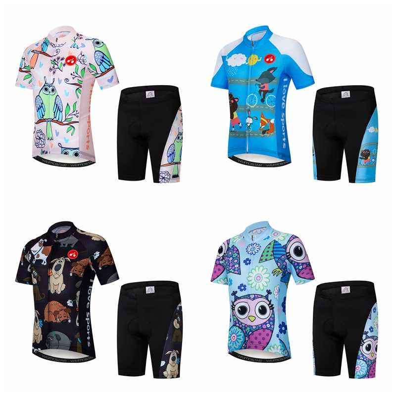 5da5c7c36 Summer Children s Bicycle Wear Suit Cycling Jersey Set for Kids Breathable  Quick Dry Ropa Cilismo Cycling