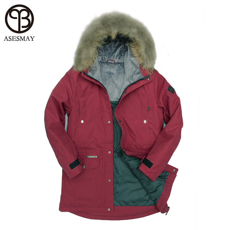 Asesmay 2017 Winter Mens Long Duck Down Jackets Coats Mens Winter Fashion Thick Warm Hooded Jackets For Men Parka Free Shipping
