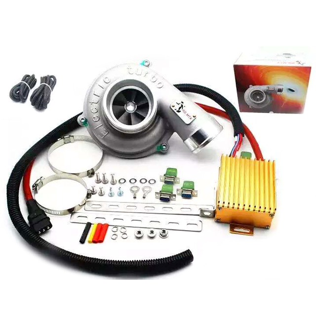 Universal Electric Turbo Supercharger Kit Thrust Motorcycle Turbocharger Air Filter Intake For All Car Improve