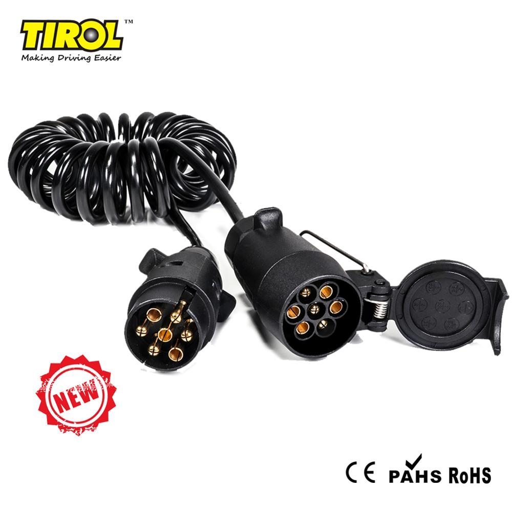 7 PIN TOWING ELECTRICS CURLY COIL PLUG /& SOCKET EXTENSION CABLE 12N TYPE 1.5M