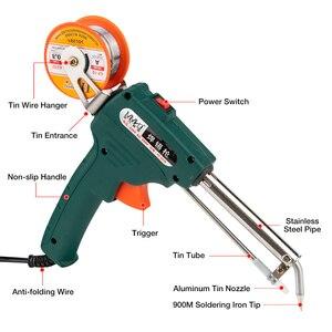 Image 2 - 60W פח חשמלי מלחם ערכת אוטומטי לשלוח פח אקדח חשמלי הלחמה תחנת טיפ פרייר פינצטה חוט ריתוך כלים