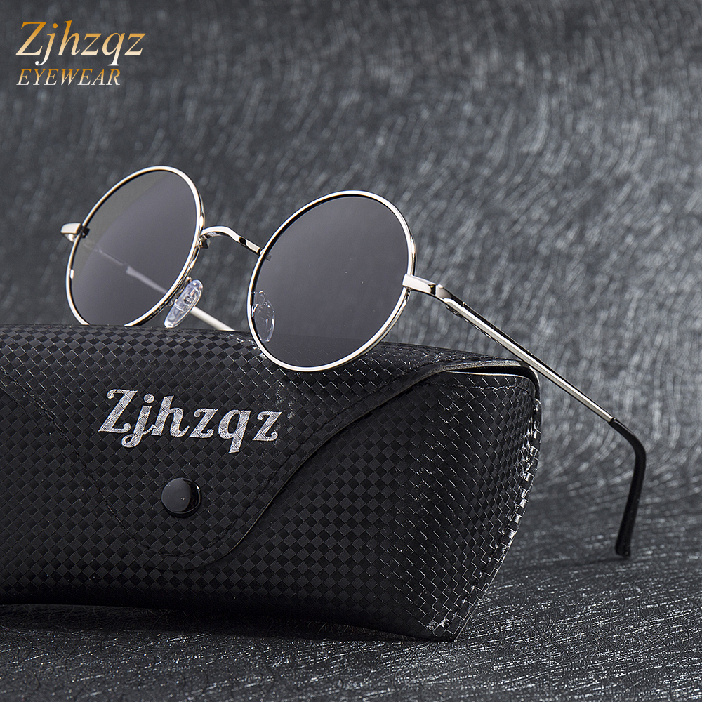 922e0463a16 Detail Feedback Questions about ZJHZQZ Steampunk Round Sunglasses Brand  Designer Classic Polarized Metal Frame Small Vintage Retro Gold Blue Green  Silver ...