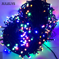 JULELYS 100M New Year Fairy Lights Christmas Garland Tree LED String Lights For Holiday Party Garden Wedding Decorations