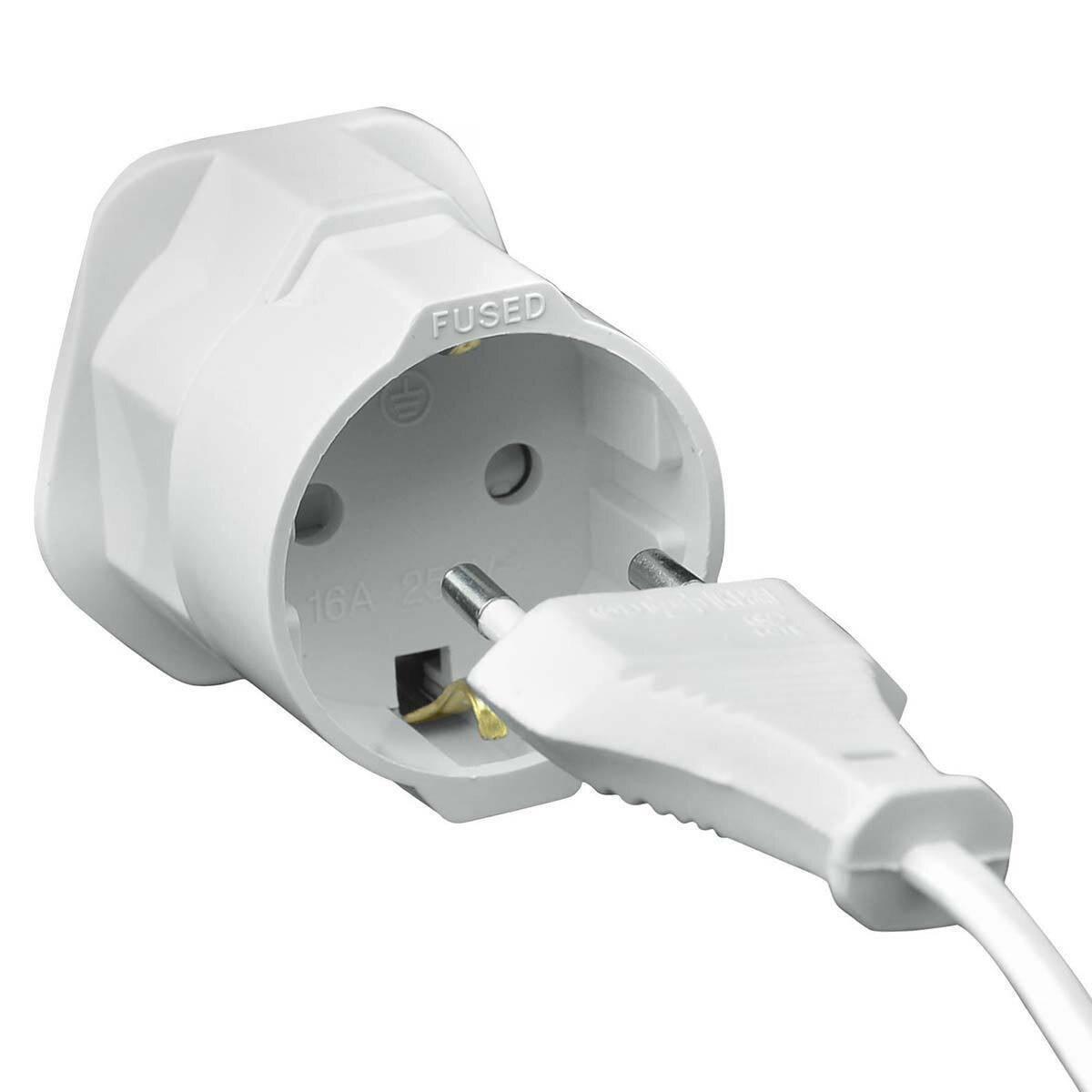 Universal Adapter EU Euro 2 Pin to UK 3 Pin Plug AC Travel Converter European UK