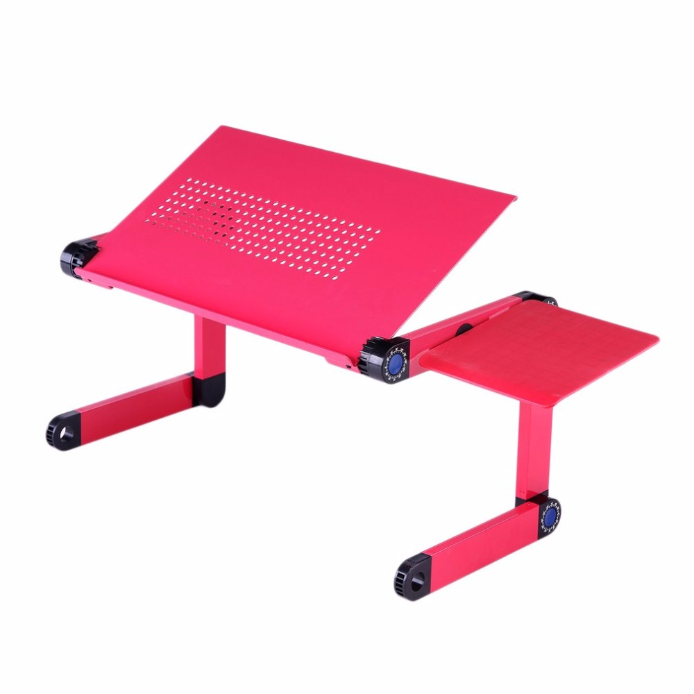 Aluminum Alloy Computer Desk The 360 degree Fold able Adjustable Cooling Table Stand Tray With Mouse Plate For Laptop Notebook