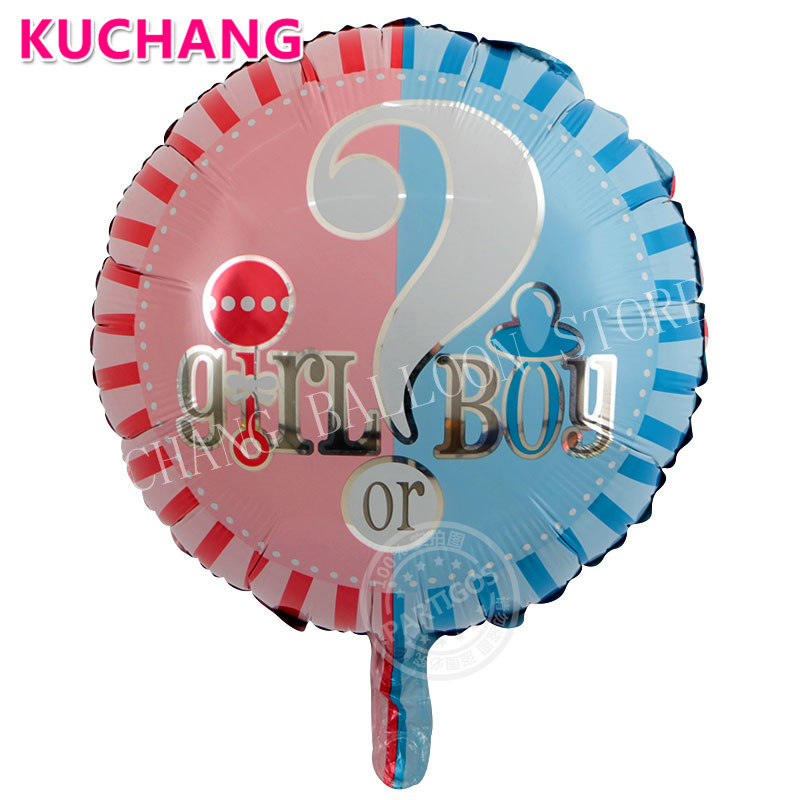 50 Pcs 18 Inch Gender Reveal Balloon Bouquet Boy Or Girl Baby Balloon Blue Globos Baby Shower Balloons Party Question Mark Balls