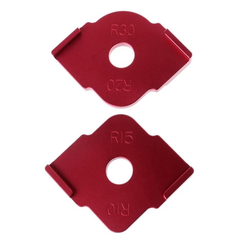 2 Pcs Wood Panel Radius Quick-Jig Router Table Bits Jig Corner Templates Kit #Aug.26