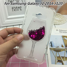 Phone Cases Covers for Samsung Galaxy J1 2016 J120 J1(6) SM-J120F/DS 3D Quicksand Shine Soft TPU Back Cover Case Clear Capa цена и фото