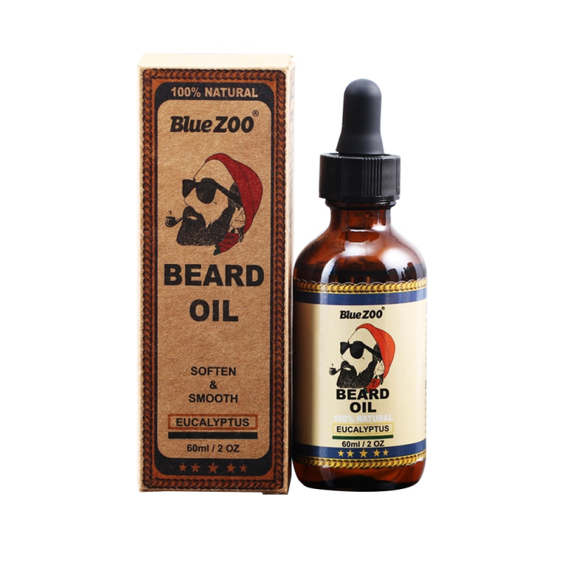 1pc Beard Oil Hair Oil Makeup 100% Natural Soften Oil Hair Growth Nourishing Cream Growth Beard Hair Health Care