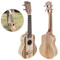 21 Inch Soprano Ukulele Zebra Wood Four Strings 15 Fret Guitar Ukelele Musical Stringed Instrument