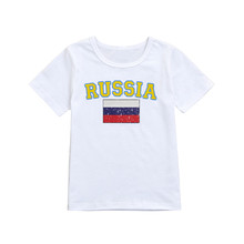 Toddler baby girl fashion clothes 2018 kids  Infant Baby Girls Boys Football Soccer Russia Tops T-Shirt Clothes dropshipping